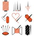 logo icons needletread vector image vector image