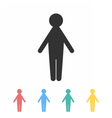 Man icon in different colors image vector image vector image