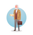 man professor teacher icon university stuff worker vector image