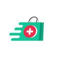 medicine delivery logo concept idea of vector image vector image