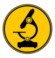 Microscope button vector image vector image