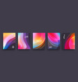 modern covers template design fluid colors set of vector image vector image