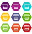 modern stall icons set 9 vector image vector image