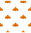 orange tent for forest camping pattern flat vector image vector image