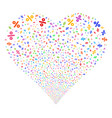 percent fireworks heart vector image vector image