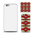 phone cover reverse side of smartphone ethnic vector image vector image