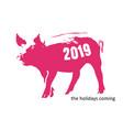 pig banksy coming vector image