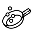 prepare food on griddle icon outline style vector image