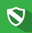 protection shield icon with shade on green vector image vector image