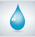 Realistic 3d blue water drop isolated