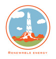 renewable energy geothermal power vector image vector image