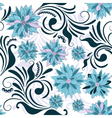 repeating floral pattern vector image vector image