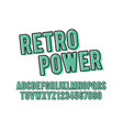 retro font and alphabet dot filled typeface vector image