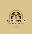 scooter rental emblem vector image vector image