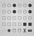 set clock icons vector image