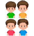 set of boy different hairstyle vector image vector image