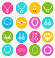 set women accessories collection of jewellery vector image