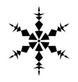 simple isolated snowflake vector image vector image