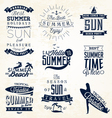 Summer Beach Calligraphy Design Elements vector image vector image