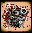 Tattoos eye explosion vector image