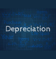 the formula of depreciation of an apartment house vector image vector image