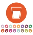 The glass icon Drink and water symbol Flat vector image vector image