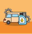 van car service maintenance gears engine oil vector image
