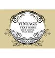 Vintage Beige Frame vector image vector image