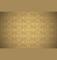 wallpaper with damask pattern in gold colors vector image vector image