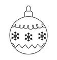 white background with ball snowflakes merry vector image vector image