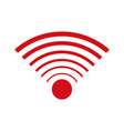 wifi internet signal connection icon vector image