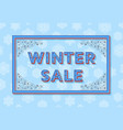 winter sale background template with retro vector image