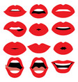 woman lips design vector image