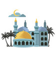yellow dome mosque vector image vector image