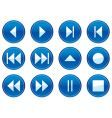 multimedia navigation buttons vector image