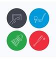 Baseball football and golf icons vector image