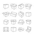 Icons box vector image
