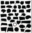 black speech bubbles collection vector image