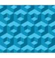 Blue cubic geometric seamless pattern vector image
