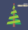 Christmas tree ribbon decoration vector image