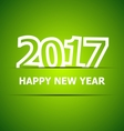 2017 Happy New Year on green background vector image vector image