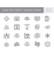 3d vr design line icons vector image vector image