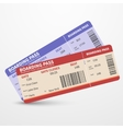 Airline boarding pass tickets travel vector image vector image