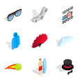 amusement icons set isometric style vector image vector image