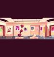 art museum gallery exhibition hall cartoon vector image vector image