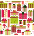 Attractive Gift Boxes Pattern on White Background vector image vector image