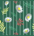 beautiful floral seamless pattern isolated vector image vector image