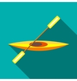 Canoe icon in flat style