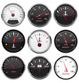 car dashboard gauges collection of speed fuel vector image vector image