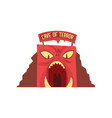 cave of terror in form of red monster s face with vector image vector image